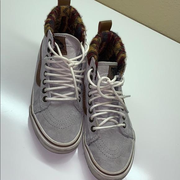 Vans Shoes - High top grey suede Vans